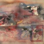 Abstracto con cuadro 1,992 67X48 Cms Acuarela Sobre papel