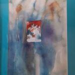 Abstracto en Azules 1,992 48X67 Cms Acuarela sobre papel