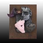 Escultura Rostro 2 La mano rosa 9X13 cms 2,017 Resina