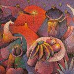 Imágenes del Altiplano y Frutas 2,006 53X69 Cms Óleo